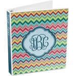 Retro Chevron Monogram 3-Ring Binder (Personalized)