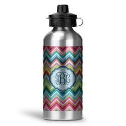 Retro Chevron Monogram Water Bottle - Aluminum - 20 oz (Personalized)