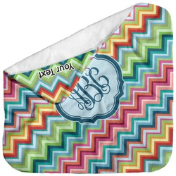 Retro Chevron Monogram Baby Hooded Towel (Personalized)