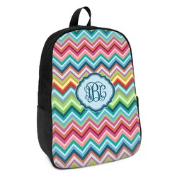 Retro Chevron Monogram Kids Backpack (Personalized)