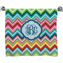 Retro Chevron Monogram Full Print Bath Towel (Personalized)