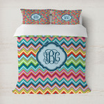 Retro Chevron Monogram Duvet Covers (Personalized)
