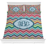 Retro Chevron Monogram Comforters (Personalized)