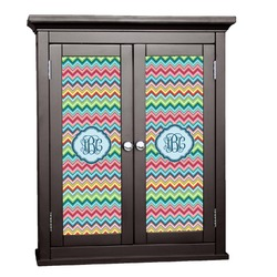 Retro Chevron Monogram Cabinet Decal - Custom Size (Personalized)