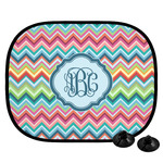 Retro Chevron Monogram Car Side Window Sun Shade (Personalized)