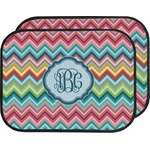 Retro Chevron Monogram Car Floor Mats (Back Seat) (Personalized)