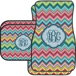 Retro Chevron Monogram Car Floor Mats (Personalized)