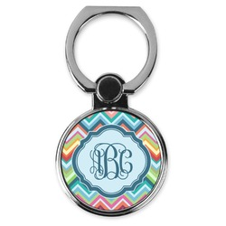 Retro Chevron Monogram Cell Phone Ring Stand & Holder (Personalized)