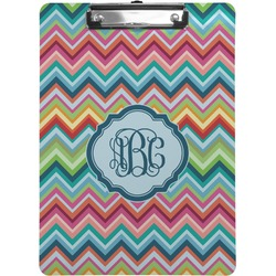 Retro Chevron Monogram Clipboard (Personalized)