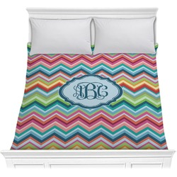 Retro Chevron Monogram Comforter (Personalized)