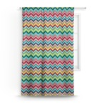 Retro Chevron Monogram Curtain (Personalized)