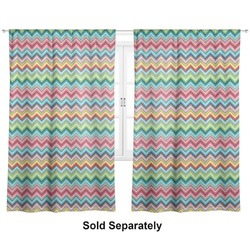 "Retro Chevron Monogram Curtains - 20""x63"" Panels - Unlined (2 Panels Per Set) (Personalized)"