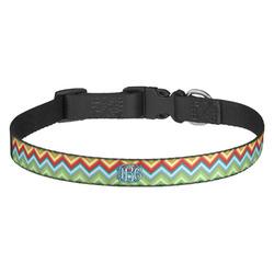 Retro Chevron Monogram Dog Collar - Multiple Sizes (Personalized)
