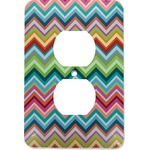 Retro Chevron Monogram Electric Outlet Plate (Personalized)