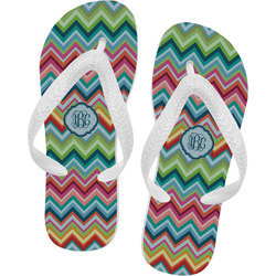 Retro Chevron Monogram Flip Flops (Personalized)