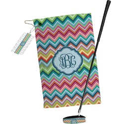Retro Chevron Monogram Golf Towel Gift Set (Personalized)