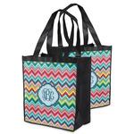 Retro Chevron Monogram Grocery Bag (Personalized)