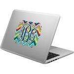 Retro Chevron Monogram Laptop Decal (Personalized)