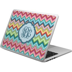 Retro Chevron Monogram Laptop Skin - Custom Sized (Personalized)