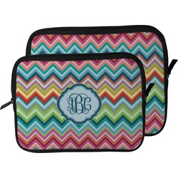 Retro Chevron Monogram Laptop Sleeve / Case (Personalized)