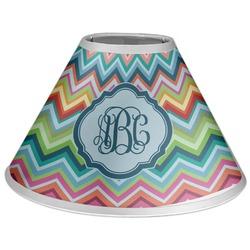 Retro Chevron Monogram Coolie Lamp Shade (Personalized)