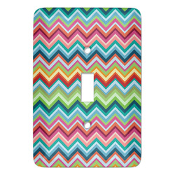 Retro Chevron Monogram Light Switch Covers - Multiple Toggle Options Available (Personalized)