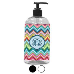 Retro Chevron Monogram Plastic Soap / Lotion Dispenser (Personalized)