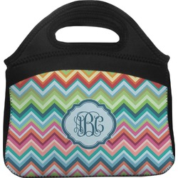 Retro Chevron Monogram Lunch Tote (Personalized)