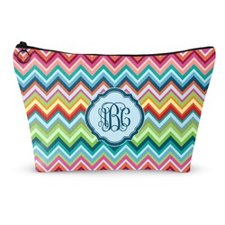Retro Chevron Monogram Makeup Bags (Personalized)