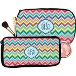 Retro Chevron Monogram Makeup / Cosmetic Bag (Personalized)