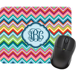 Retro Chevron Monogram Mouse Pads (Personalized)