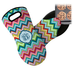 Retro Chevron Monogram Neoprene Oven Mitt (Personalized)