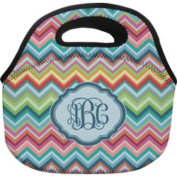 Retro Chevron Monogram Lunch Bag (Personalized)