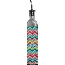 Retro Chevron Monogram Oil Dispenser Bottle (Personalized)