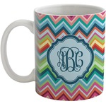 Retro Chevron Monogram Coffee Mug (Personalized)