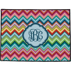 Retro Chevron Monogram Door Mat (Personalized)