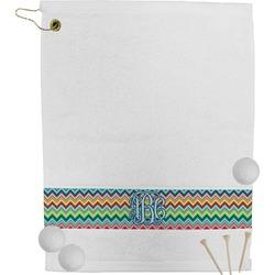 Retro Chevron Monogram Golf Towel (Personalized)