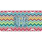 Retro Chevron Monogram Front License Plate (Personalized)