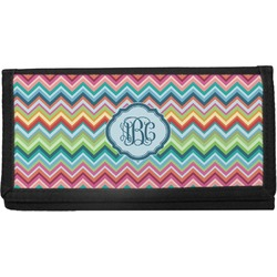 Retro Chevron Monogram Canvas Checkbook Cover (Personalized)