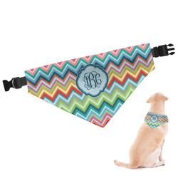 Retro Chevron Monogram Dog Bandana (Personalized)