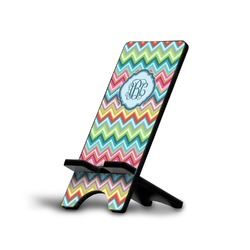 Retro Chevron Monogram Phone Stand (Personalized)