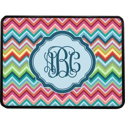 Retro Chevron Monogram Rectangular Trailer Hitch Cover (Personalized)