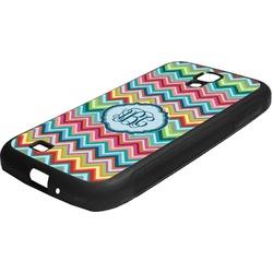 Retro Chevron Monogram Rubber Samsung Galaxy 4 Phone Case (Personalized)