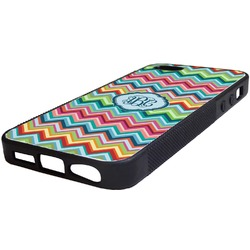 Retro Chevron Monogram Rubber iPhone 5/5S Phone Case (Personalized)