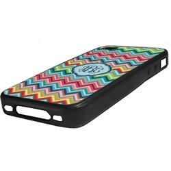 Retro Chevron Monogram Rubber iPhone Case 4/4S (Personalized)