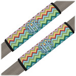 Retro Chevron Monogram Seat Belt Covers (Set of 2) (Personalized)