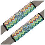 Retro Chevron Monogram Seat Belt Covers (Set of 2) (Personalized)