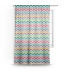 Retro Chevron Monogram Sheer Curtains (Personalized)