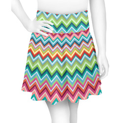 Retro Chevron Monogram Skater Skirt (Personalized)
