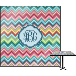 Retro Chevron Monogram Square Table Top (Personalized)